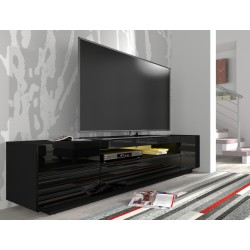 RTV skrinka TV 200 C čierna / čierny lesk