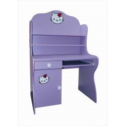 Dětský psací stůl KOČIČKA - s policemi