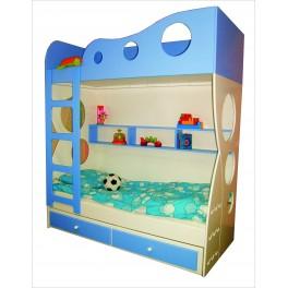 Detská poschodová posteľ VLNA