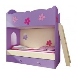 Dětská poschoďová postel CLASIC s žebříkem