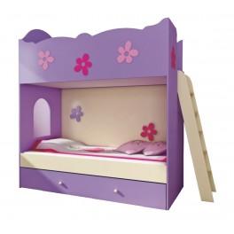 Detská poschodová posteľ CLASIC s rebríkom