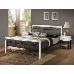 Manželská postel BENÁTKY / bílá + černá ( SG )