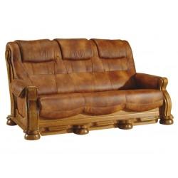 Kožená sedačka CEZAR II - 3 místná