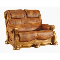 Kožená sedačka CEZAR II - 2 miestna