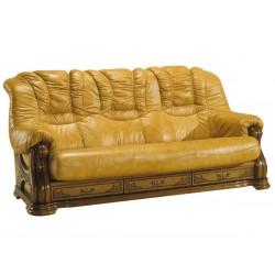 Kožená sedačka CHEVERNY - 3 miestna